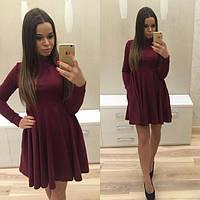 Платье мини трикотажное