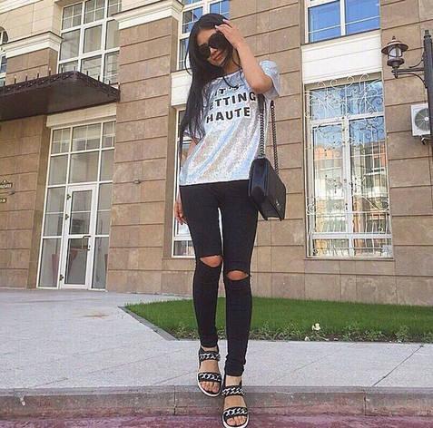 Чёрные джинсы, фото 2