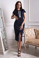 Женское нарядное платье-миди со стразами | Разные цвета