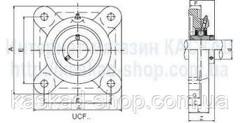 Підшипник UCF207, фото 2