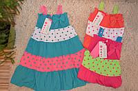 Летнее платье для девочек 98-128 см