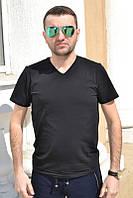 Однотонная хлопковая мужская футболка | Украина