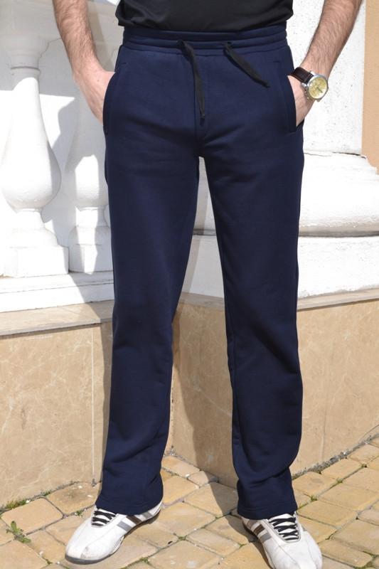 Качественные мужские трикотажные спортивные брюки 7002 (трехнитка)   Синие,  фото 1 19c9e2af4bb