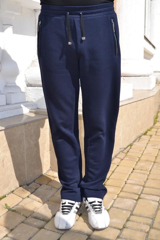 Мужские трикотажные спортивные брюки 7001 с карманами на молнии - Черный Кот  в Харькове 5666a191098