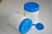 Емкости пластиковые, для хранения влажных салфеток, б/у, объем 250-600 мл