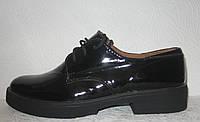 Туфли оксфорды женские лаковая кожа