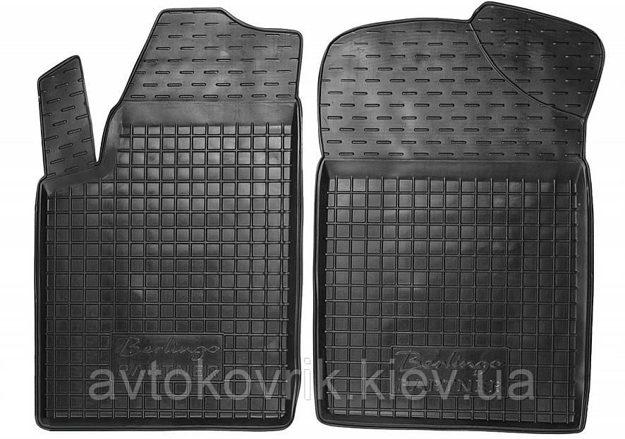 Полиуретановые передние коврики в салон Citroen Berlingo I 1998-2007 (AVTO-GUMM)