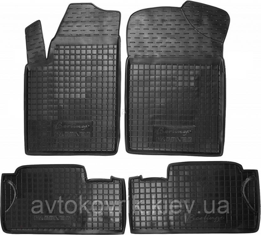 Полиуретановые коврики в салон Citroen Berlingo I 1998-2007 (AVTO-GUMM)