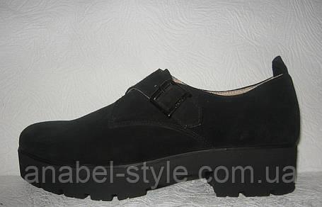 Туфли оксфорды женские натуральная замша, фото 2