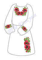 Платье для девочки ДП Маки