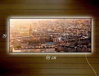Картина с подсветкой Сердце города 29x69