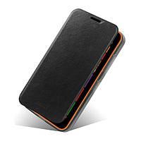 Кожаный чехол книжка MOFI для Nokia Lumia 630 чёрный