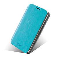 Кожаный чехол книжка Mofi для Lenovo A529 голубой