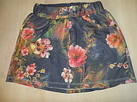 Юбка для девочки с цветным принтом подростковая, фото 1