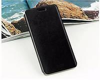 Кожаный чехол книжка Mofi для Huawei Ascend G7 чёрный