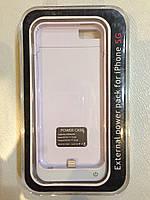 Чехол - батарея / Пауеркейс / аккумулятор JLW power case для iPhone 5, 5s (Белый)