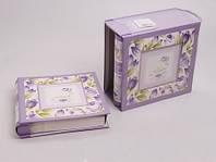 Комплект фотоальбомов из 2 шт. 28х23х10 см. сиреневый