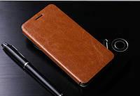 Кожаный чехол книжка Mofi для Huawei Honor 6 коричневый