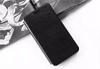 Кожаный чехол книжка Mofi для Huawei Ascend Y330-U11 чёрный