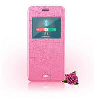 Кожаный чехол книжка Mofi для Asus Zenfone 5 розовый