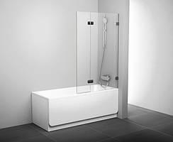 Шторка для ванны подвижная двухэлементная Ravak BVS2-100 L хром+transparent