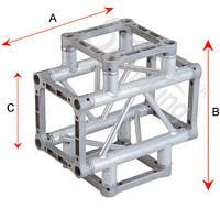 Алюминиевая ферма: уголок, втулка, пружина, соединитель SOUNDKING DKC2904H
