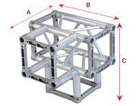 Алюминиевая ферма: уголок, втулка, пружина, соединитель  SOUNDKING DKC2204G