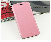 Кожаный чехол книжка Mofi для Motorola Google Nexus 6 розовый