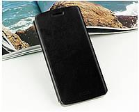 Кожаный чехол книжка Mofi для Motorola Google Nexus 6 чёрный