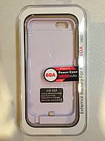 Чехол - батарея / Пауеркейс / аккумулятор JLW power case для iPhone 6 (Белый)