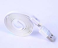 Оригинальный плоский кабель Remax / Ремакс Lightning - USB для iPhone 6. 6S, 5S, 7, 7+, 8, 8+, фото 1