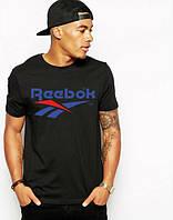 Стильная мужская футболка черная Reebok