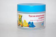 Тесто-пластилин 4 цвета в баночке