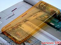 Желто-золотой силиконовый чехол для Lenovo S90