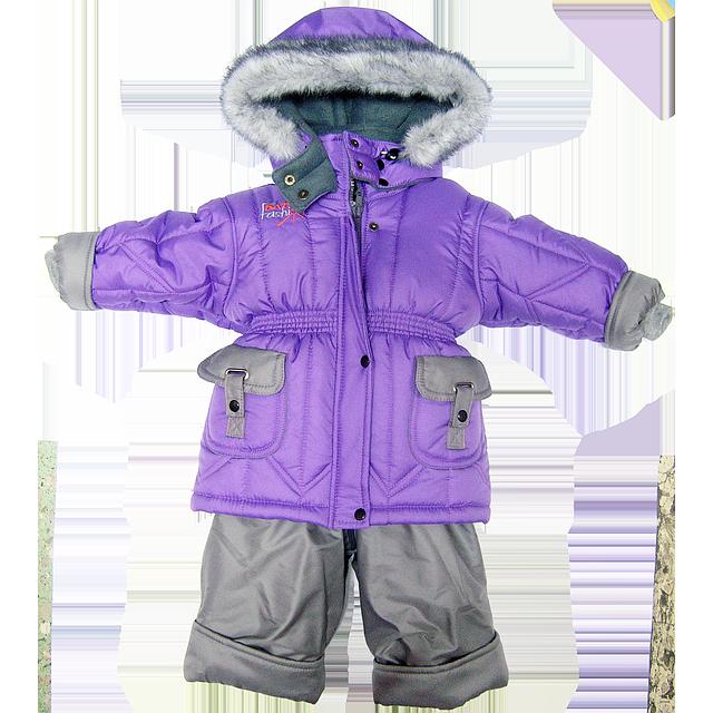 Детский зимний термо комбинезон: штаны на шлейках и куртка на флисе и отстегивающейся овчине, р.80 - Детский интернет-магазин «Ромашка» в Киеве