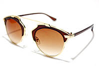 Солнцезащитные очки Dior So Real модель 140 С4 SM 01963, женские очки Диор коричневые в золотистой оправе