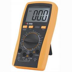 Мультиметр цифровой vc88b, тестер, высокая точность измерений, защита от перегрузки, удобный чехол