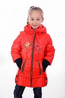 Весенняя куртка-жилет для девочки на рост 110-140 см