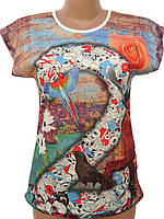 Яркая женская футболка на лето (42-48)