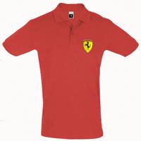 Футболка Поло Ferrari 3D Logo