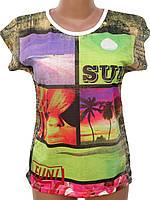 Яркая женская футболка (44,46)