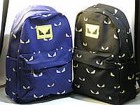 """Стильный городской рюкзак """"Глаза"""". Модный, интересный рюкзак. Вместительный рюкзак. Удобный рюкзак. Код: КЕ638"""
