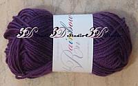 Пряжа для вязания акриловая цвет баклажан