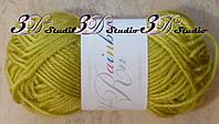 Пряжа для вязания акриловая цвет горчичный 25 грамм