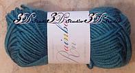 Пряжа для вязания акриловая цвет морская волна