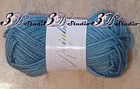 Пряжа для вязания акриловая цвет лазурный