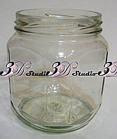 Заготовка для декупажа емкость стеклянная квадратная малая 450 мл