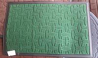 Коврик в прихожую 60 см х 90 см с толстой ниткой зеленый
