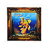 """""""Золотая рыбка"""" магнит - картина Саки 70х70 мм"""