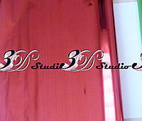 Пленка флористическая красный металлик